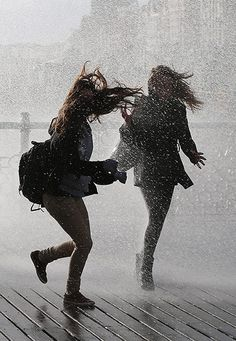 Because we are best friends. Because we dance . That is why we dance in the rain. Walking In The Rain, Singing In The Rain, My Best Friend, Best Friends, Lifelong Friends, Photos Bff, Polaroid Photos, I Love Rain, Girl In Rain