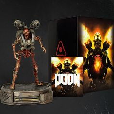 """The DOOM Collector's Edition includes:  An exclusive, fully-realized 12"""" tall collector's statue of one of DOOM's m..."""