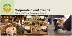 Fall is a great time to host an event. Check out our trends to spice up your corporate event!