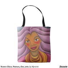 Rostro Chica. Pintura, óleo, arte. Producto disponible en tienda Zazzle. Accesorios, moda. Product available in Zazzle store. Fashion Accessories. Regalos, Gifts. Link to product: http://www.zazzle.com/rostro_chica_pintura_oleo_arte_tote_bag-256688250727267712?CMPN=shareicon&lang=en&social=true&rf=238167879144476949 #bolso #bag