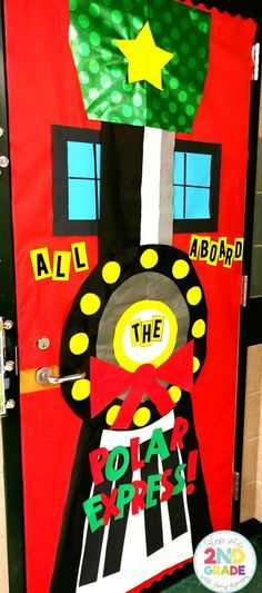 Make a Polar Express Christmas Door for your classroom.
