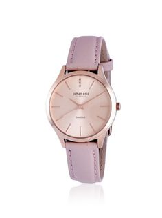 Johan Eric Women's JE2200-09-001.9 Herlev Pink/Rose Leather Watch