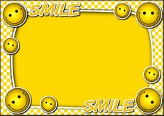 Yellow Frames With Smiley Cartoon: Frames  Design, Img, PSDDesignTemplates Wallpaper