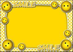 Yellow Frames With Smiley Cartoon: Frames  Design, Img, PSDDesignTemplates Wallpaper