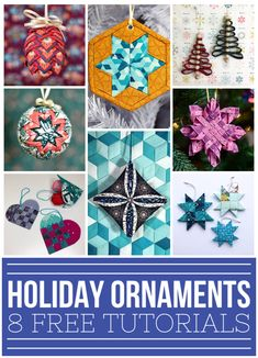 My Favorite Holiday Ornaments – Mister Domestic Pinecone Ornaments, Ball Ornaments, Holiday Ornaments, Holiday Crafts, Christmas Decorations, Holiday Ideas, Christmas Sewing, Christmas Fabric, Sewing Crafts