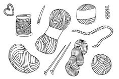 -50% OFF! Yarn balls hand drawn set by AnnaLytvynenko on @creativemarket Crochet Yarn, Knitting Yarn, Yarn Ball, Bullet Journal Ideas Pages, Wool Yarn, Royalty Free Images, Graphic Illustration, Coloring Pages, Colouring