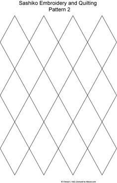 Sashiko Pattern 2: Sashiko Pattern 2