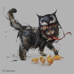 Artist Re-Imagines Cats As Marvel And DC Superheroes And We Love It! - World's largest collection of cat memes and other animals Marvel And Dc Superheroes, Marvel Art, Marvel Characters, Marvel Comics, Venom Comics, Fictional Characters, Cartoon Cartoon, Cartoon Drawings, Comic Kunst
