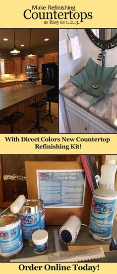 Direct Colors Newest Product For Refinishing Existing Countertops!  Everything You Need In One Kit!