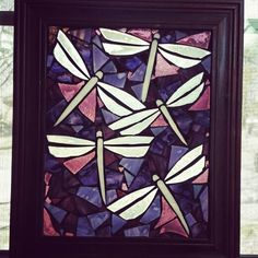 Stained glass mosaic magnolia tree window by chanda froehle more at - Glass art by artis ...