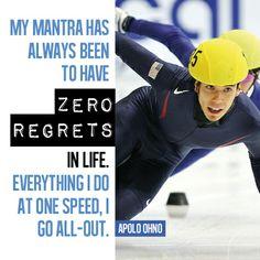 Zero regrets from Winter Olympics legend Apolo Ohno - Motivational Monday