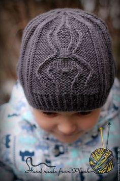 Обучающие материалы ручной работы. Ярмарка Мастеров - ручная работа. Купить МК-описание шапки унисекс Spider (Паук). Handmade. Knitted Baby Clothes, Baby Hats Knitting, Knitted Hats, Knitting Paterns, Loom Knitting, Knit Crochet, Crochet Hats, Mittens Pattern, Knit Beanie Hat
