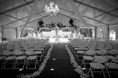 my sisters wedding ceremony was beautiful in a tent outside of a bed & breakfast