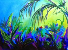 "Contemporary Artists of Florida: ""Wild Palms"" Contemporary by Florida Abstract Artist Fay Kelley"