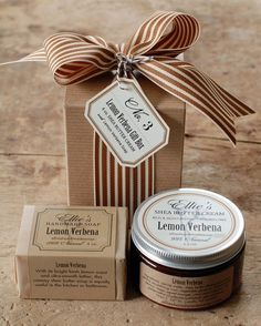 No. 3 - Soap & Shea Gift Box - Handmade Soap and Shea Butter Cream in Coordinating Scents. $18.50, via Etsy.