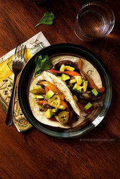 Portobello Mushroom and Cubanelle Pepper Tacos Recipe  | #tacos #vegan…
