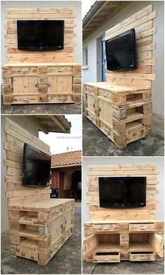 People mostly prefer to go to a furniture store and buy the furniture pieces, which don't make their home look unique. But those who want their home give a different look should choose the option of creating furniture at home and here we are presenting a wooden pallet made TV console with the space to place other products as well.