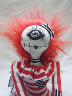 Hand Made Gothic Rag Doll / Art Doll Winged One by SpookyButCute, $80.00 https://www.etsy.com/uk/listing/176413897/hand-made-gothic-rag-doll-art-doll?ref=shop_home_feat_2