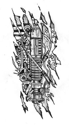 Biomechanic Lightsaber Tattoo Design by CustomArtwerk.deviantart.com on @deviantART