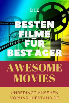 """""""60 und kein bisschen weise"""", sang Curd Jürgens – und irgendwie hat er recht. Das Alter hat noch einiges zu bieten. Wir sind plötzlich frei, können uns die aufgeschobenen Träume erfüllen – beste Voraussetzung für ein eigenes Filmgenre. Die besten Filme für uns. Mittlerweile entdecken die Regisseure diese Klientel und beleuchtet ihre Sorgen, Nöte, Träume. #film #bestager #movies #awesomemovies #filmgenre"""
