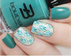 Reverse Stamping Nail art with beautiful colors combo item ID: 17921(stamping�