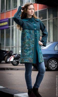 """Верхняя одежда ручной работы. Ярмарка Мастеров - ручная работа Валяное летнее пальто """"Садко"""". Handmade."""