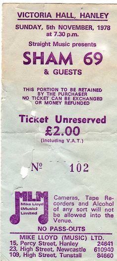 Collezione di vecchi ticket dei concerti (ska punk oi! goth brit pop ed altro)