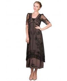 Nataya 40007 Titanic Dress in Black/Coco