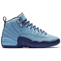 """Air Jordan 12 Retro GS """"Hornets"""" ❤ liked on Polyvore featuring shoes and jordans"""