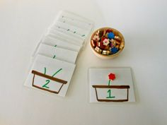 Counting Flowers Set for Toddlers and Children, Montessori, Waldorf. $7.00, via Etsy.