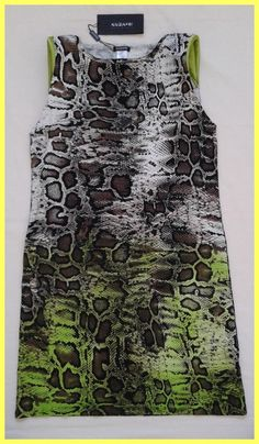 Krizia Grown / Green Snake Python Print Stretch Dress. Free shipping and guaranteed authenticity on Krizia Grown / Green Snake Python Print Stretch Dress at Tradesy. New With Tags Krizia Poi brown / green snake pytho...