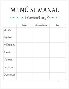 Weekly menu and favorite dishes - My Organized House Casa Clean, Clean House, Custom Sketchbook, Planning Menu, Super Healthy Kids, Bullet Journal Notes, Organized Mom, Home Management, Planner Organization