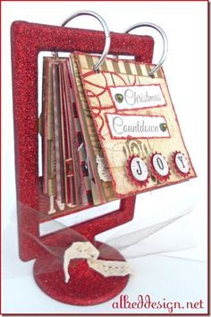 Christmas countdown advent flip frame (Ikea). Also great idea to make a calendar this way!