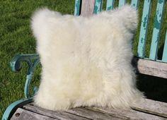 Sheepskin Lambskin cushion 40cm / nr 4