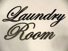 Amazon.com: Decorative Metal Wall Art Decor Laundry Room Words Black: Home & Kitchen