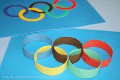 Koła olimpijskie kreatywnie z rolek papieru