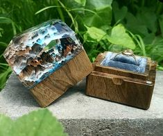 Resin Ring, Resin Jewelry, Proposal Ring Box, Wooden Ring Box, Ring Bearer Box, Ring Pillow, Anniversary Gifts For Him, Wood Rings, Wood Resin