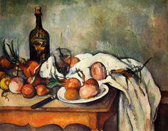 """PAUL CèZANNE (1839-1906) DONNA CON LA CAFFETTIERA;GIOCATORI DI CARTE;MELE E ARANCE;NATURA MORTA CON CIPOLLE  """"Quando ili colore a la sua ricchezza, la forma ha la sua compiutezza"""". Ripeteva spesso Cèzanne a proposito della sua pittura.  All'interno del rivoluzionario gruppo degli impressionisti, Cèzanne portò avanti la sua rivoluzione personale... #Cèzanne #art #oil #canvas #history"""