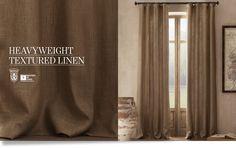 Heavyweight Textured Belgian Linen Drapery