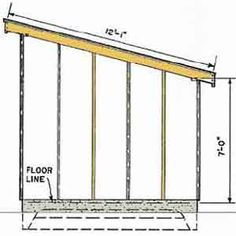 Free slant roof shed plans woodwork city someday for 12x10 deck plans