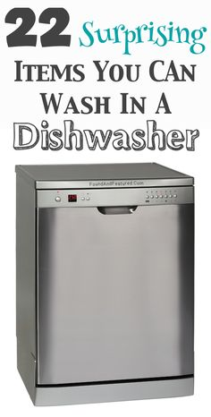 I had no idea you could wash ALL this stuff in the dishwasher!