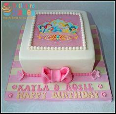 Disney princess cake with edible topper