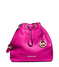 Jules Drawstring Leather Large Shoulder Bag   Michael Kors Michael Kors  Wallet, Michael Kors Shoulder f29b56af2d