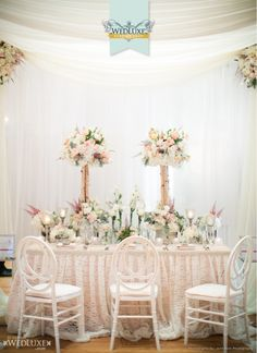 WedLuxe: pretty table