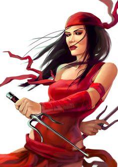 Elektra by ~schultzee on deviantART