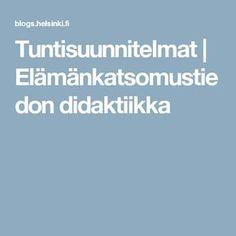 Tuntisuunnitelmat | Elämänkatsomustiedon didaktiikka Helsinki