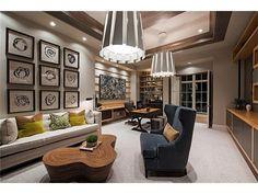 A luxury home office design by Beasley & Henley Interior Design.