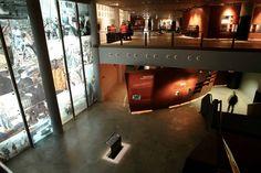 Vista del interior del Museo Maritimo de Bilbao.