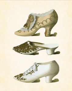 Fashion plate for shoes, late 19th century