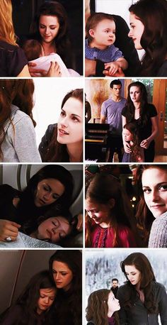 Renesmee, Bella, and Jacob (in one picture)